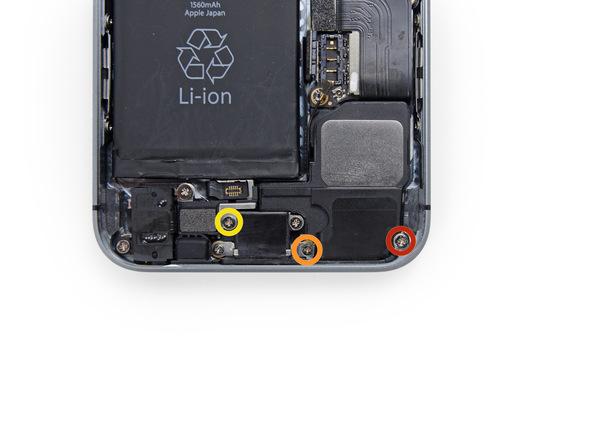 iPhone 5s Lautsprecher Schrauben