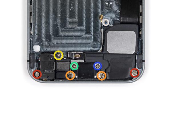 iPhone 5s Lightning Schrauben